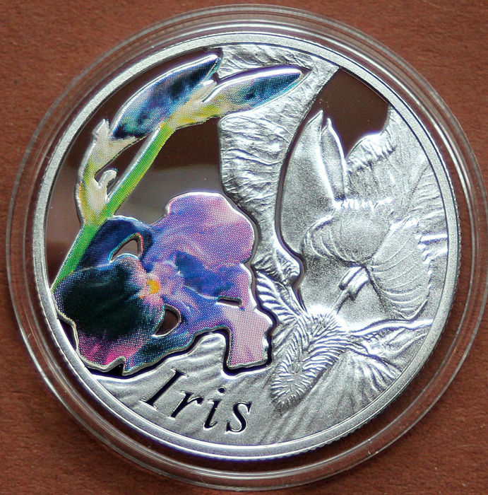 "Belarus - 10 Rubel 2013 Series Beauty of Flowers ""Iris"" - Silver"