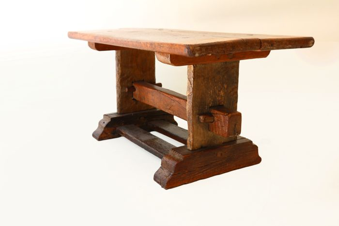 Oak coffee table – made up of old parts - Netherlands - early 20th century
