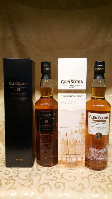 85672c0ae4cb 2 bottles - Glen Scotia Double Cask and Glen Scotia 15 years old ...