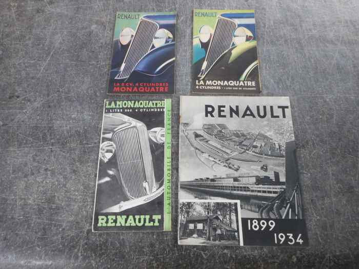 Brochures / Catalogi - Renault - 1933-1934 (4 items)