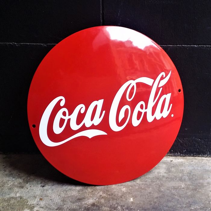 Coca Cola - USA - Emaille - Early 90's - Vintage