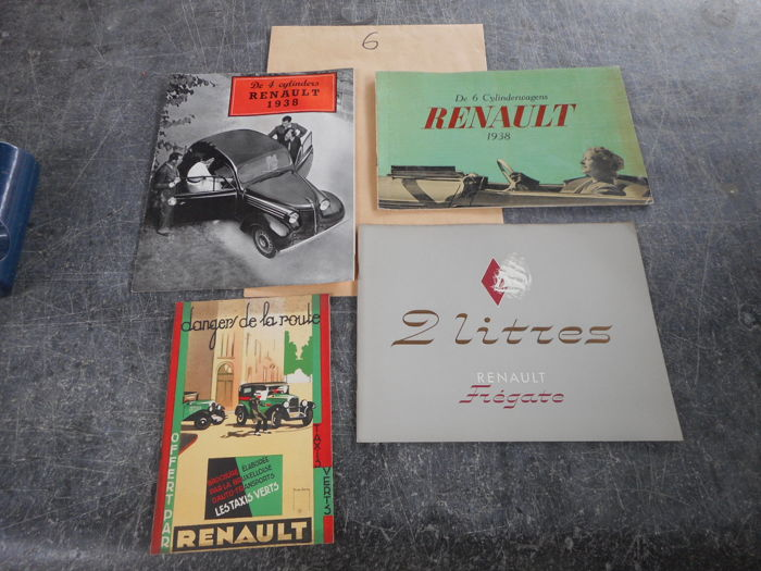 Brochures / Catalogi - Renault - 1938-1938 (4 items)