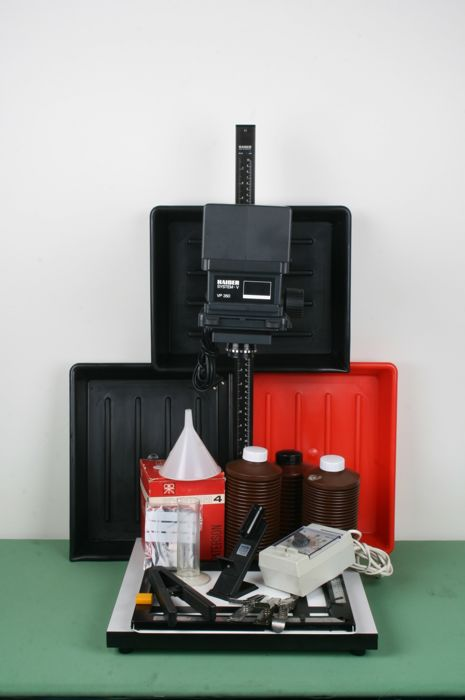Complete darkroom set Kaiser system V VP350 & Rodenstock Rodagon 1:5.6 50mm and accessories