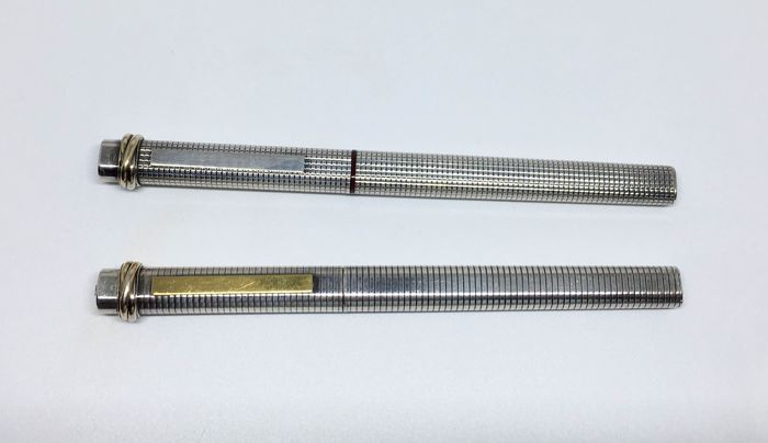 two Cartier Sterling Fountain Pens