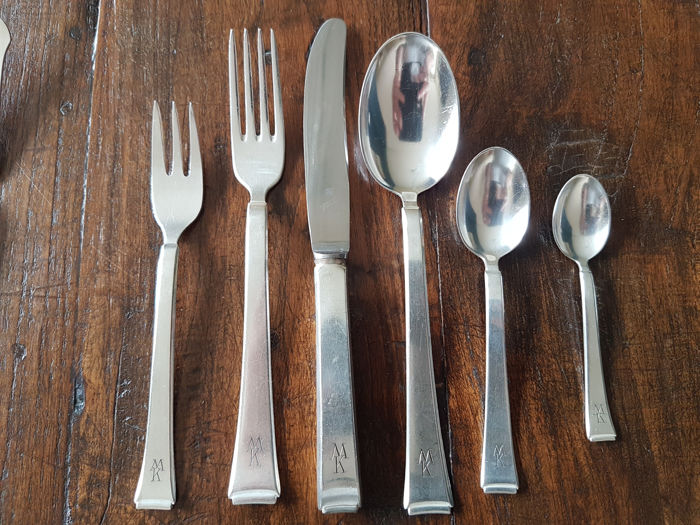 Silver plated WMF model 90 Friodur cutlery section 81-piece