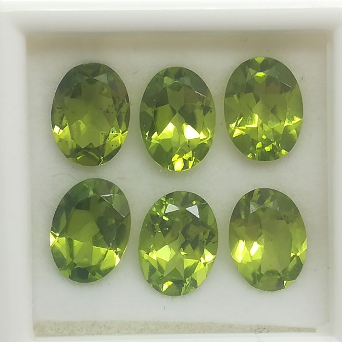 Lot of 6 Peridots - 7.48 ct
