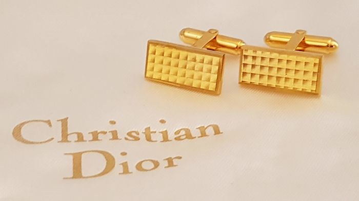 Christian Dior - Exquisite gold plated cuff links - Vintage