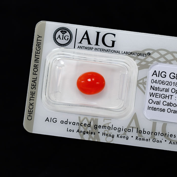 Fire Opal - 1.25 ct, No Reserve Price
