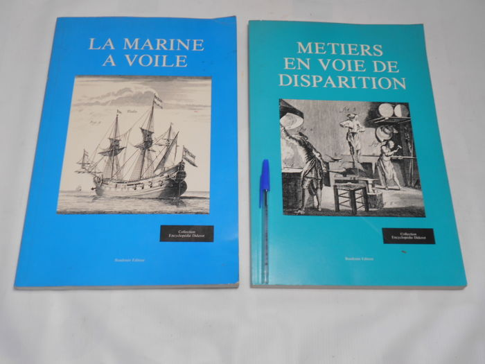 "Collection ""Encyclopédie Diderot"" - Métiers en voie de dispartion & La Marine à Voile - 1978/1979"