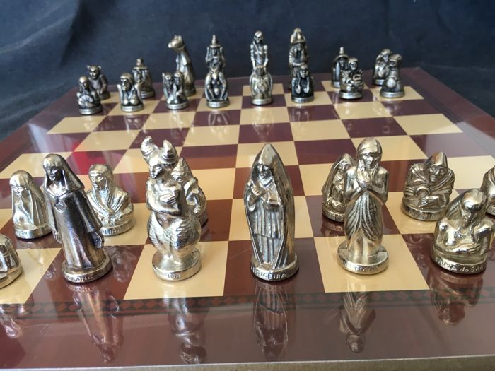 Queens of witches chess set