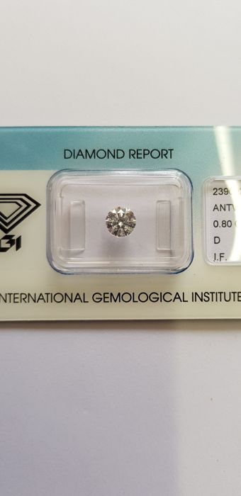 Rare couple of 1.60 ct in total, D IF