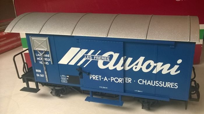 LGB G - 46280 - Freight carriage - Goods wagon with print Ausoni mode - MOB