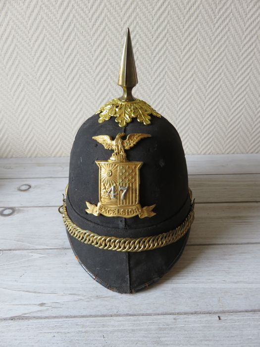 New York National Guard Dress Helm gedateerd 1898