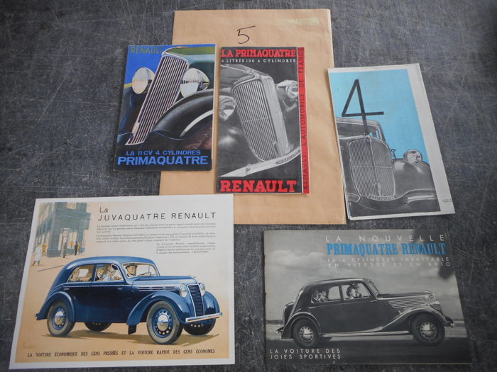 Brochures / Catalogi - Renault - 1933-1933 (5 items)