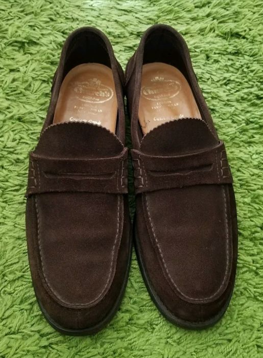678b791c7ca Men s loafers in brown suede Church s Pembrey 10 44 excellent condition