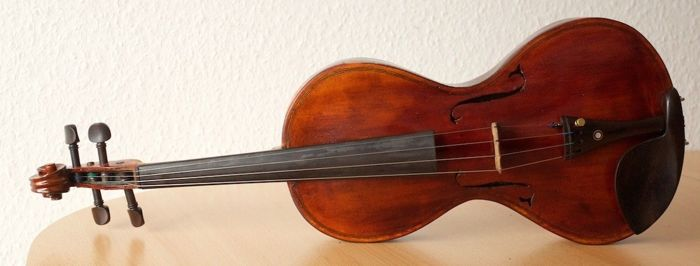 Gorgeous Large Violin, Master, Complete, Antique - Georges Chanot, Paris. From: 1855 / No reserve price!!