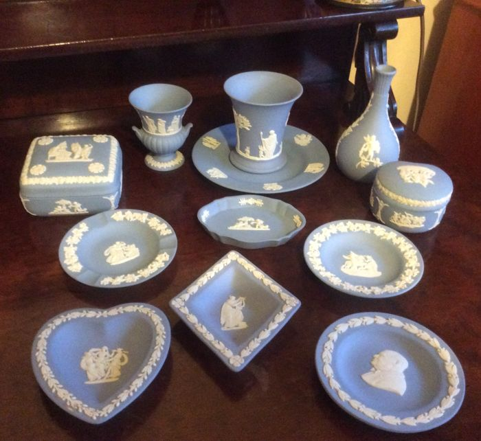 Wedgwood England Jasper ware collection of  12 items