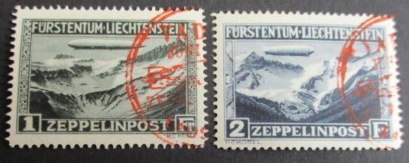 Liechtenstein 1931 - Zeppelin - Michel 114/115
