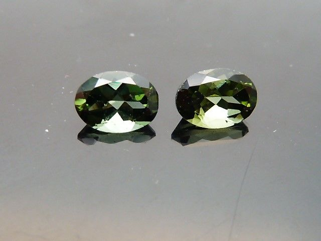 Pair of tourmalines verdelites - 1.75 ct