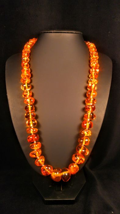 Italian style 100% Genuine Vintage Baltic Amber necklace, 83 grams