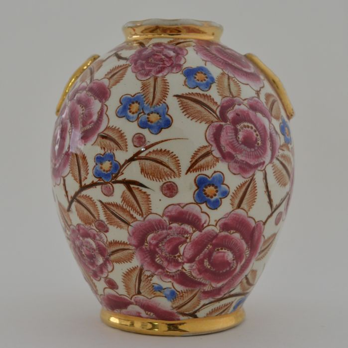 Raymond Chevalier for Boch La Louvière - Art Deco Vase with floral design