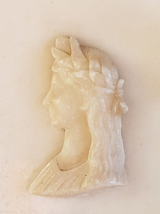 Alabaster relief of Greek goddess - 19th c. (1800-1900)