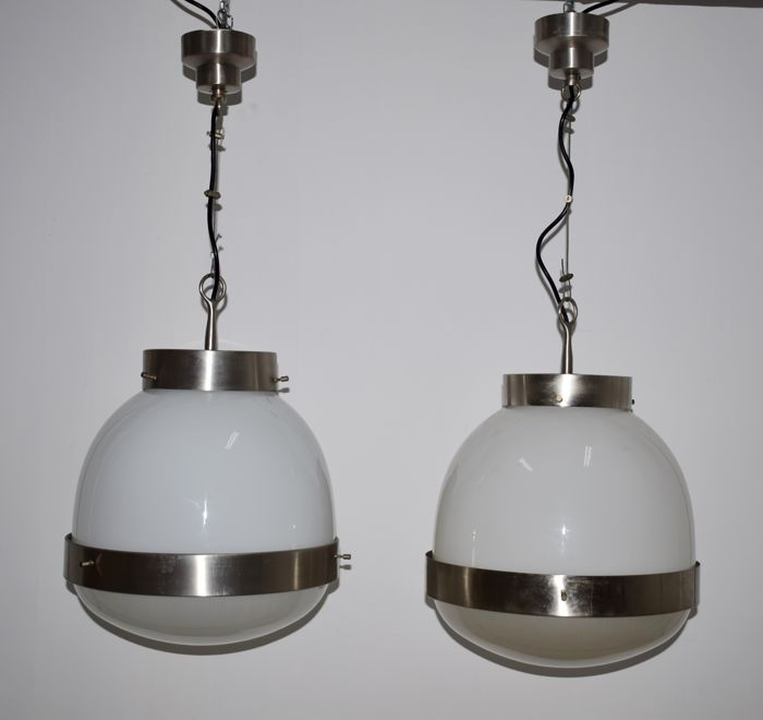 Sergio Mazza for Artemide - Pair of Delta Grande pendant lights