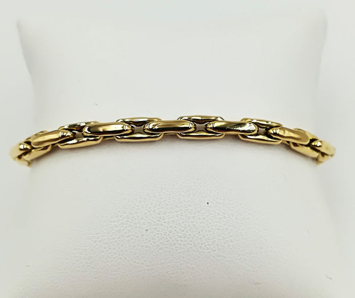 Women's bracelet in 18 kt yellow and white gold, length: 19.50 cm, total weight: 14.23 g
