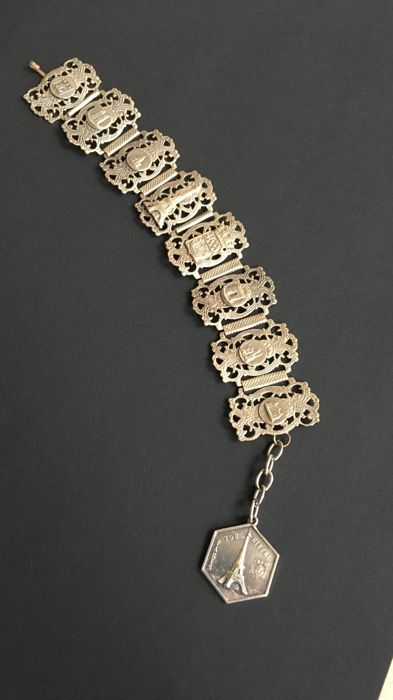 Fillgrane Depose Early 1900's Paris Souvenir Bracelet