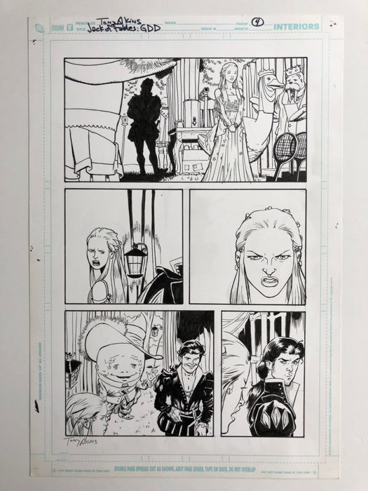 Jack of Fables # 21 page 4 - Original art by Tony Akins  - & Andrew Pepoy - (2007)