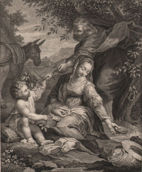 Federico Barocci (1535-1612) - Rest on the flight into Egypt