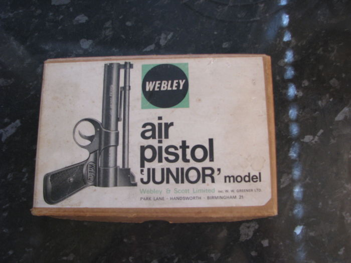 Webley Junior  Air Gun in original box with pellets