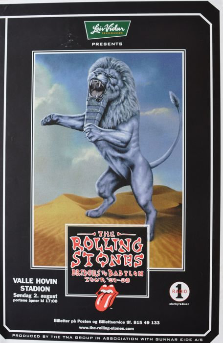 The Rolling Stones concert poster Bridges to Babylon Tour '97-'98