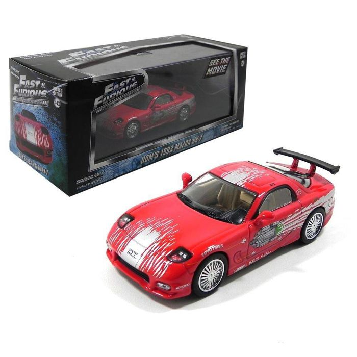 fast & furious - greenlight - scale 1/43 - 1993 mazda rx-7 - fast