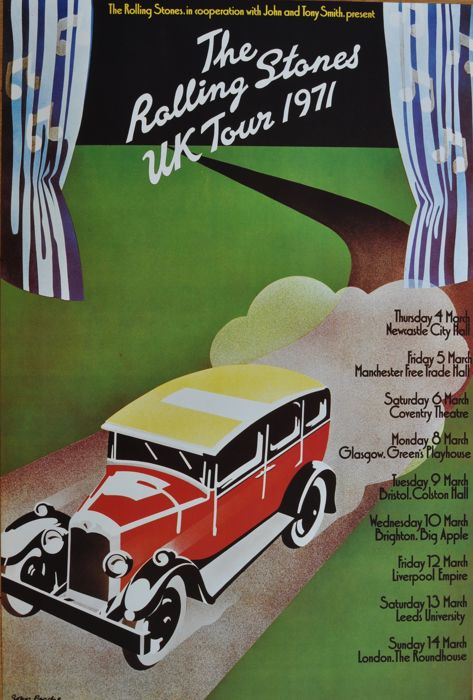The Rolling Stones concert poster 1971