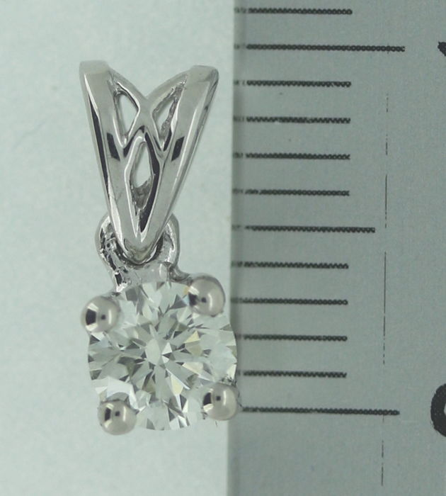 Solitaire pendant with 1 brilliant cut diamond of 0.30 ct -  No reserve price