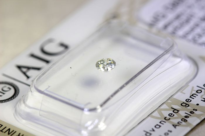 AIG Antwerp Diamant - 0.19 ct - G, SI1-  * NO RESERVE PRICE *