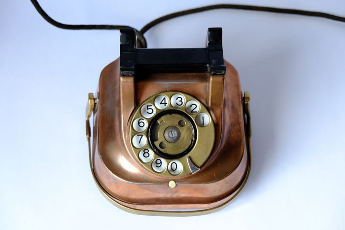 Old telephones with turning dial (3) - Catawiki