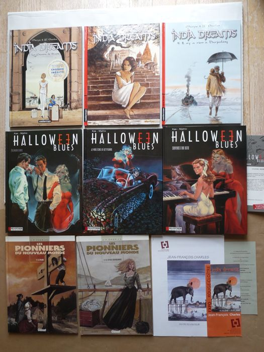 India Dreams / Halloween Blues / diverses séries - 8x C - EO/Ré (1997/2005)