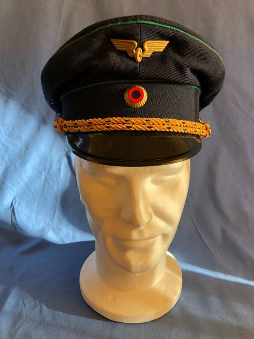 "Fantastic German DDR ""Reichsbahn"" hat from the early 1950s."