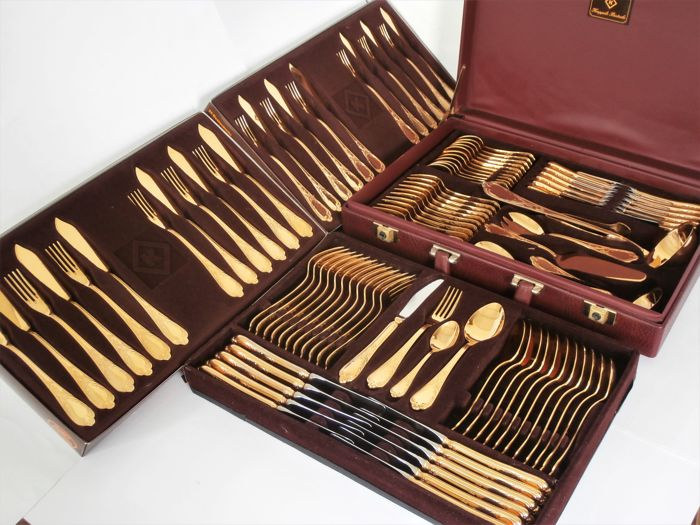Solingen 12 Person102 Piece Cutlery Set In A Case Incl Fish Cutlery