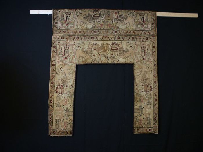 Door curtain, approx. 125 x 132 cm, Iran