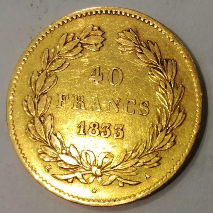 France - 40 Francs 1833-A Louis Philippe I - gold