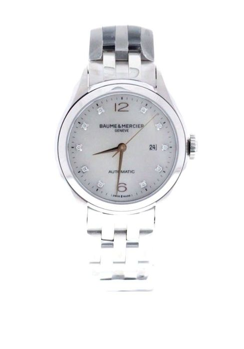 Baume & Mercier - Clifton Mother Of Pearl Diamond Dial - M0A10151 - Unisex - 2017