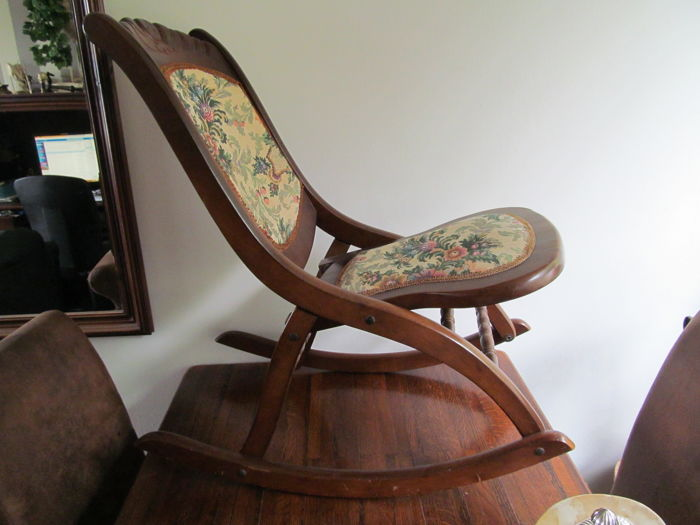 Folding rocking chair-Belgium-first half of 20th century