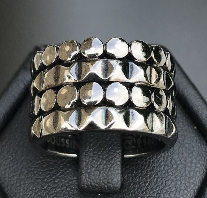 "Mauboussin - ring ""Route de Tennessee"" 925 silver with black rhodium plating **no reserve price**"