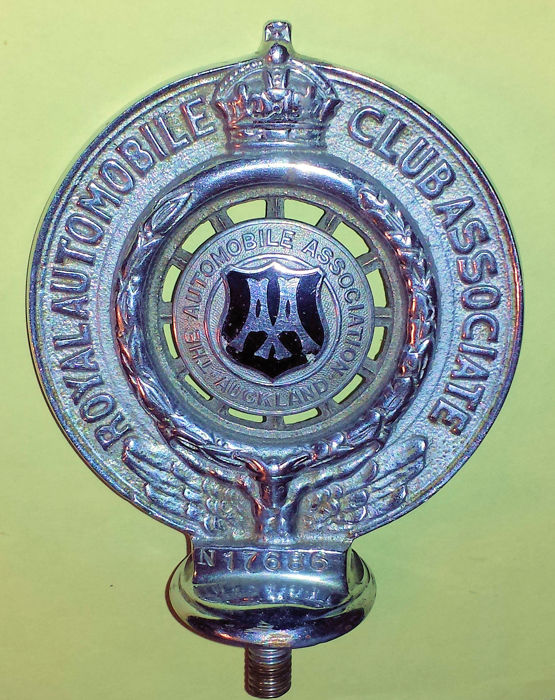 RAC Automobile Association Auckland Car Badge, New Zealand 1930s