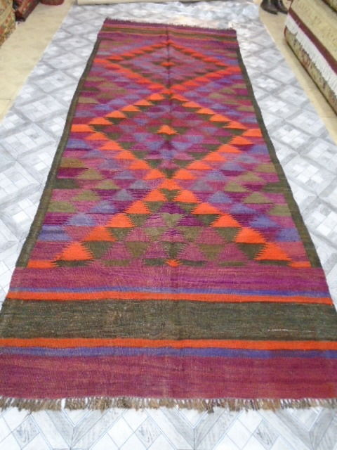 Irani Persian Kilim Hand Made 312 x 114  cm