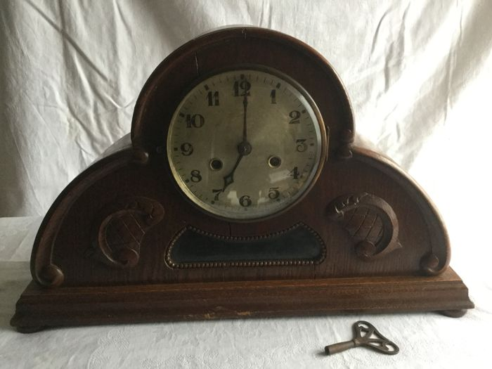 Beautiful large Pundele/stage clock-oak-in very good condition
