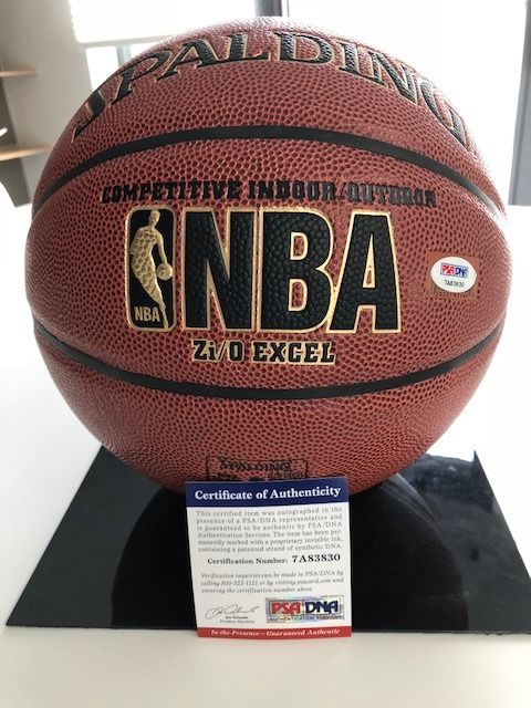 Autographed NBA Spalding Indoor/Outdoor NBA basketball by Magic Johnson